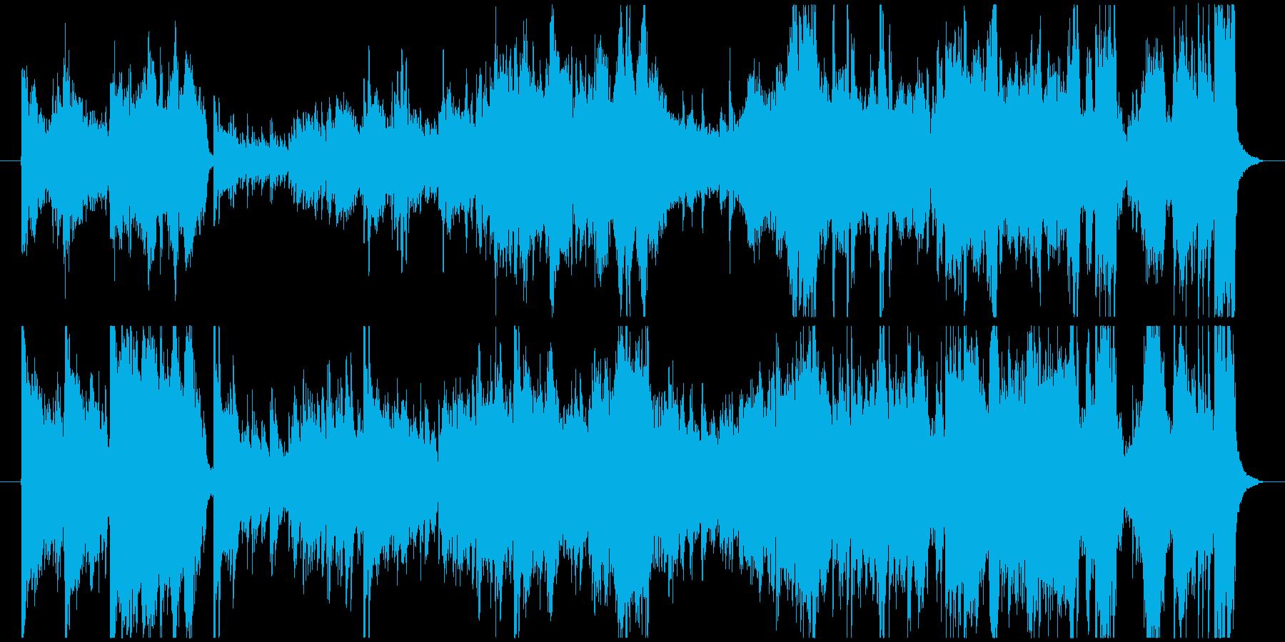 切なくて感動的な器楽の再生済みの波形
