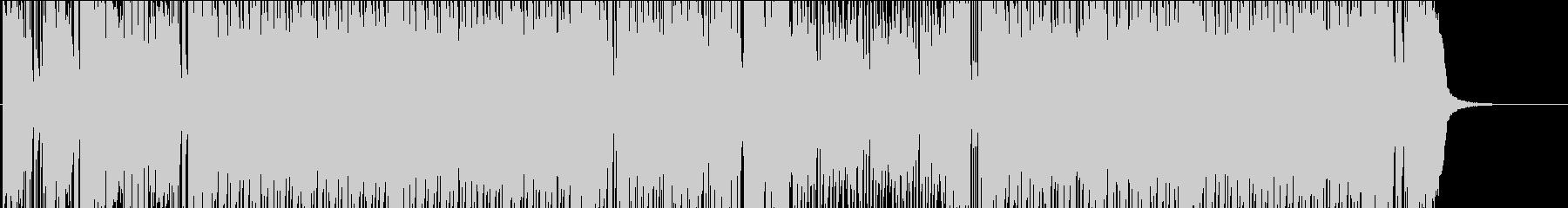 疾走感のある和風のロックBGMの未再生の波形