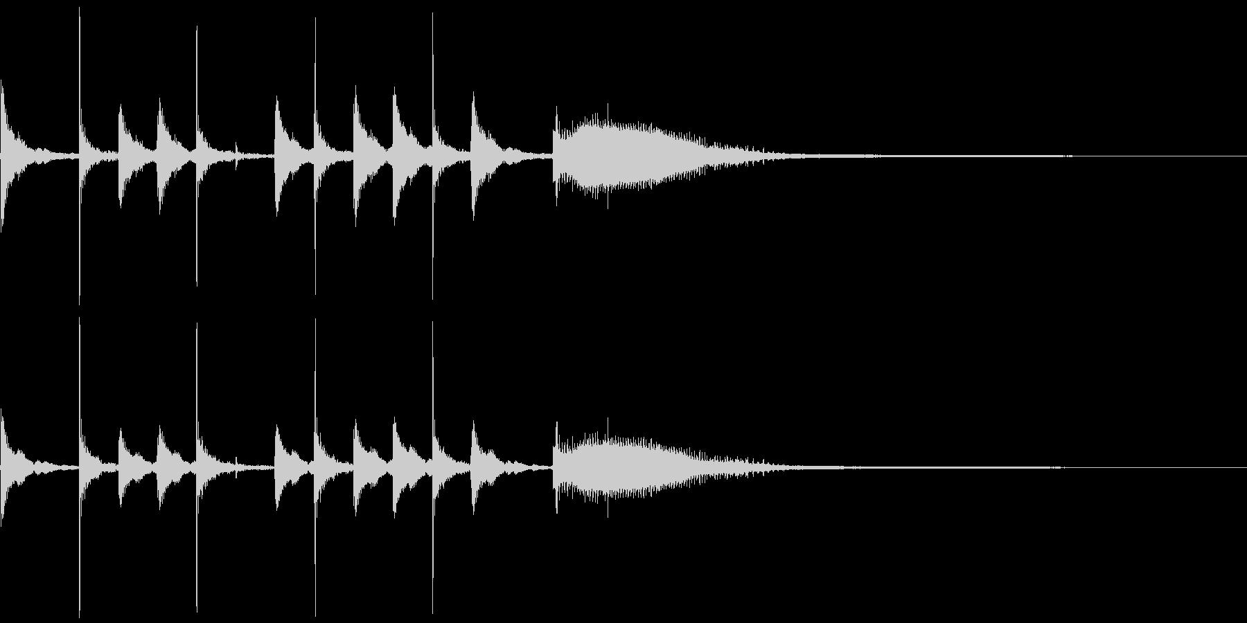 気の抜けたパーカッションのフレーズ 1Aの未再生の波形