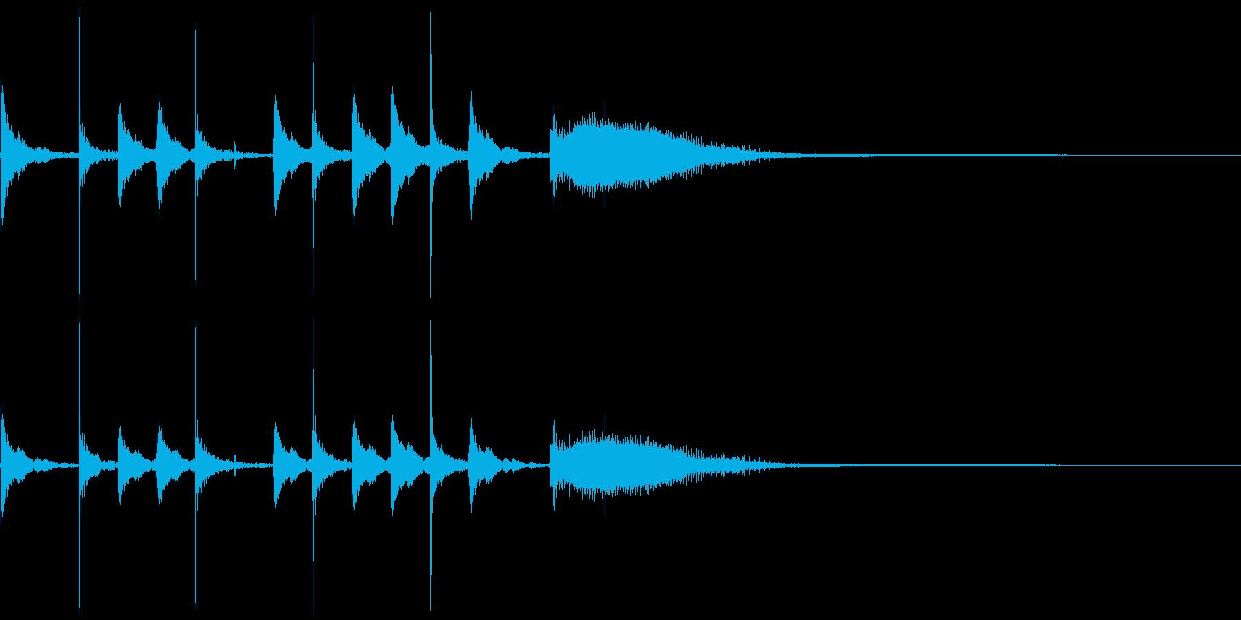 気の抜けたパーカッションのフレーズ 1Aの再生済みの波形