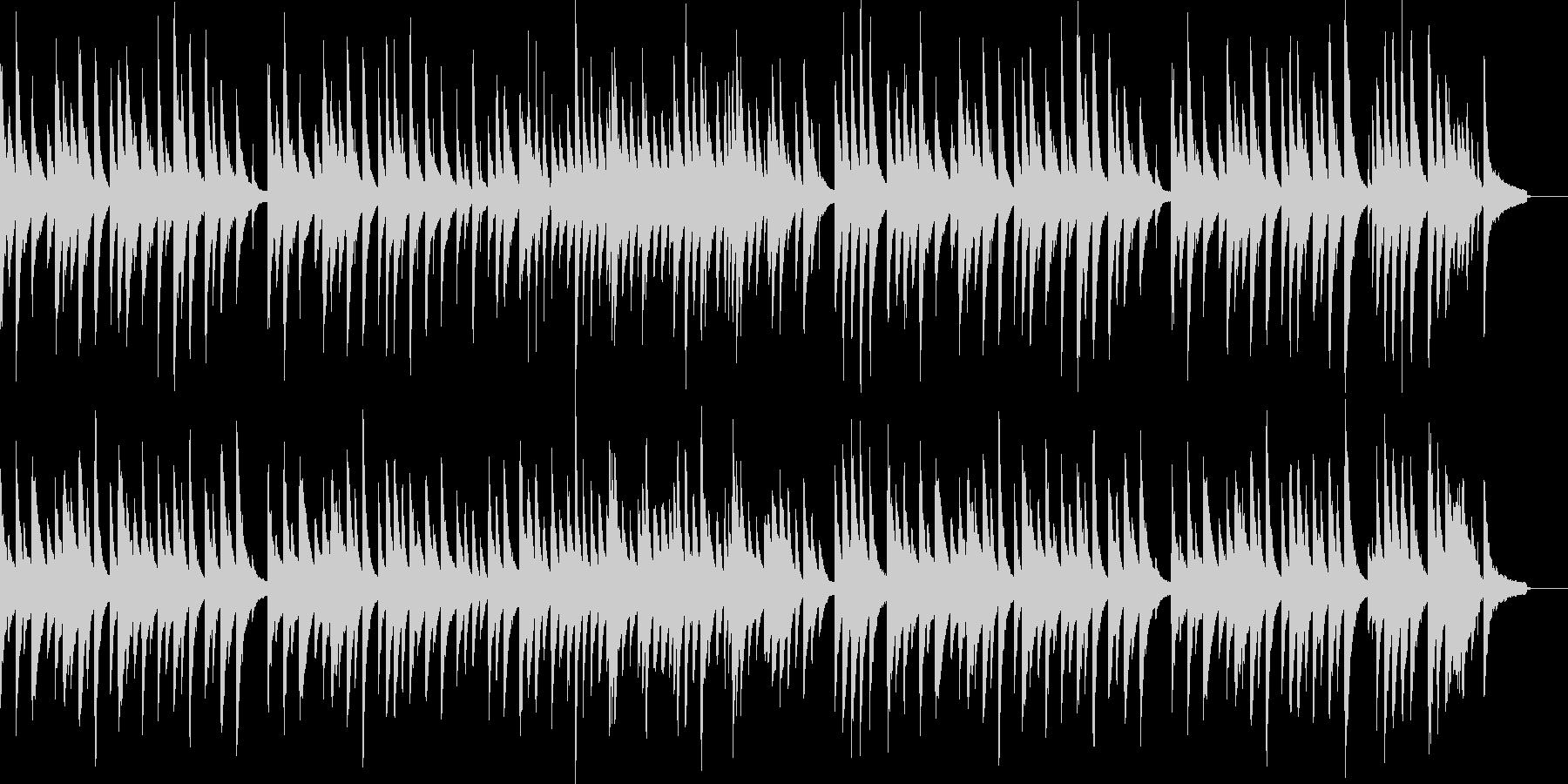 優しい雰囲気のピアノ曲の未再生の波形