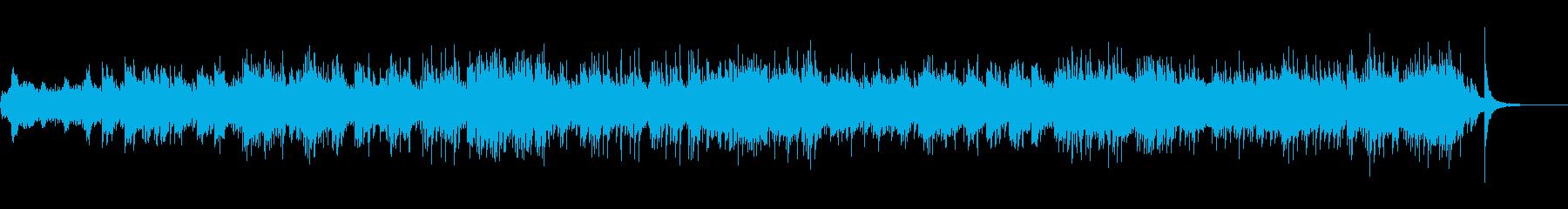 神秘的な和風音楽の再生済みの波形