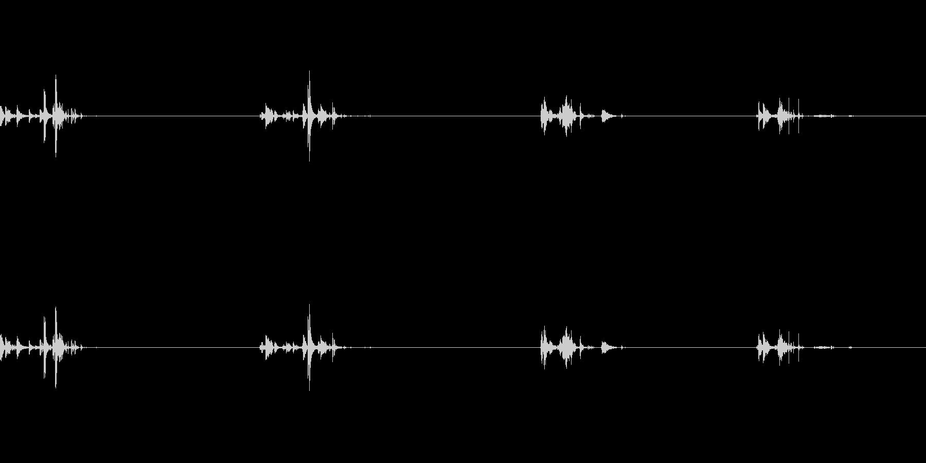 泡の音:ブクブクの未再生の波形