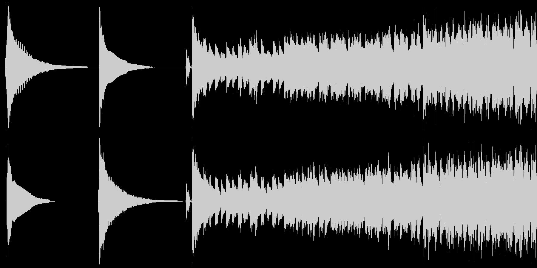 Slipper deの未再生の波形