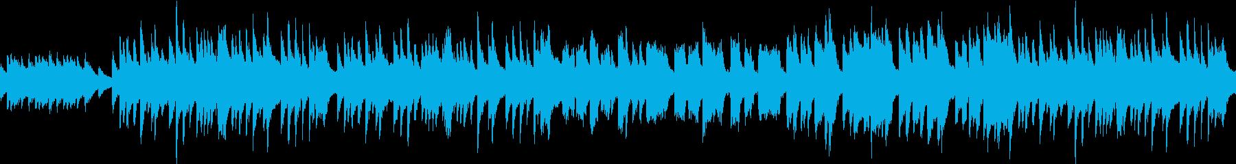 琴の音色を使った不思議だけどコミカルな曲の再生済みの波形