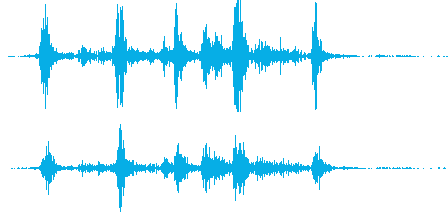ガラガラ(玄関を開ける音) 音量大の再生済みの波形