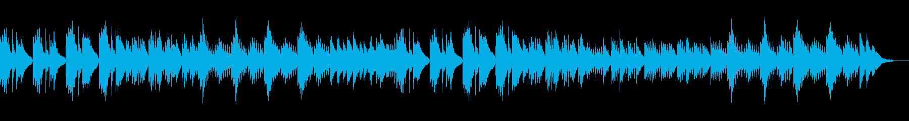 ゆったり流れる癒しのピアノソロの再生済みの波形
