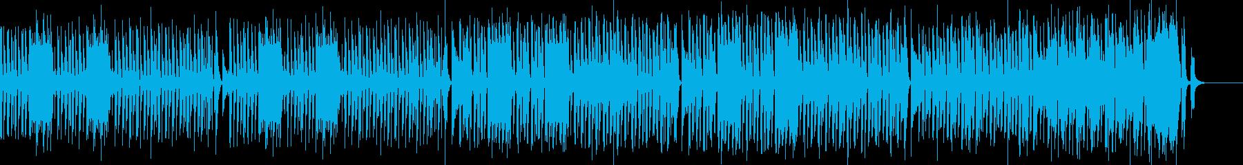 かわいくポップ楽しいキャッチーなBGMの再生済みの波形