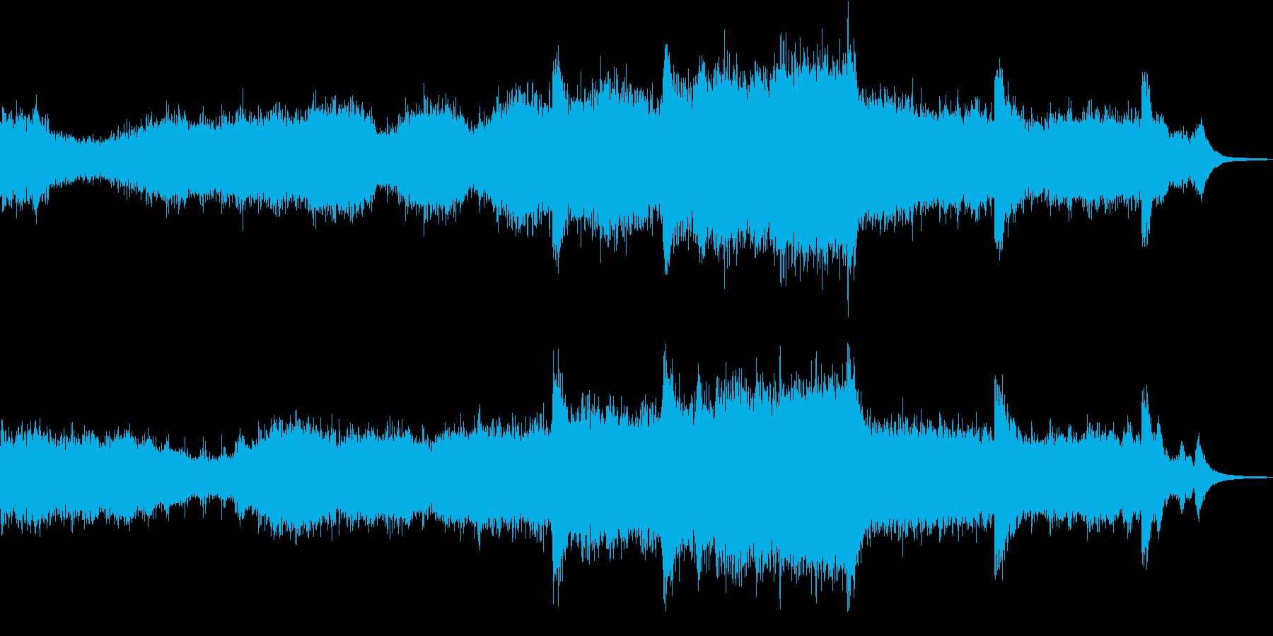 胎児が成長する過程をイメージしたBGMの再生済みの波形