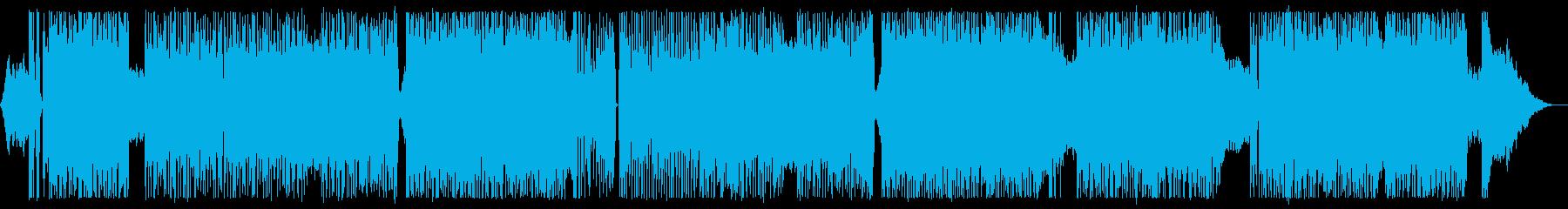 ポジティブハードロック,ギター生演奏の再生済みの波形