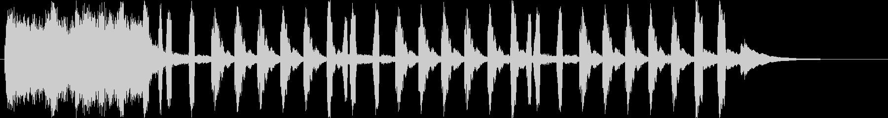 物事の雰囲気を表現するショートソングの未再生の波形