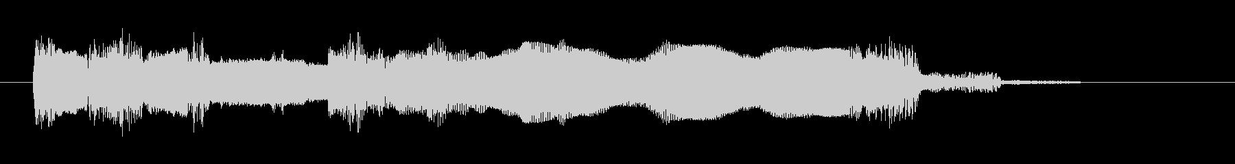エレキギター・ジングル・場面転換・OPの未再生の波形