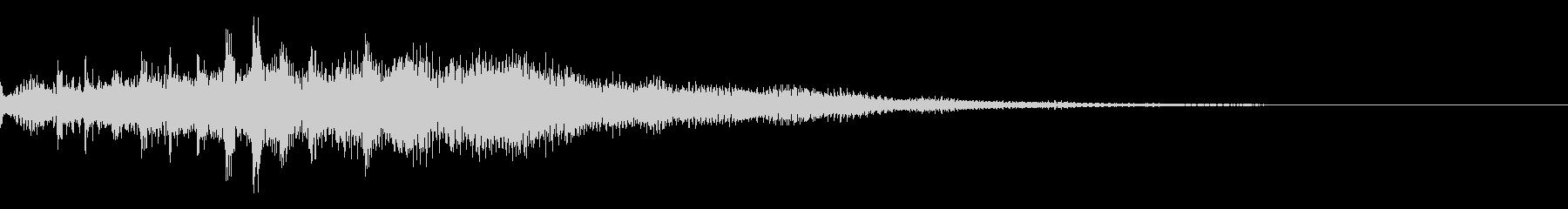 近未来をイメージしたサウンドロゴの未再生の波形