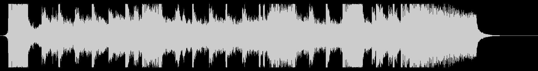 シンフォニックなダブステップジングルの未再生の波形