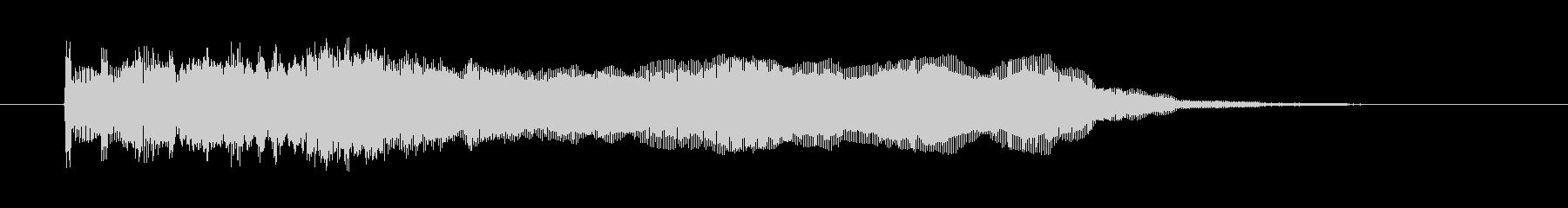 ヘヴィーメタリックなギターフレーズの未再生の波形