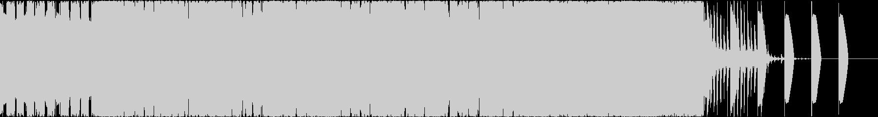 不思議な雰囲気のBGMの未再生の波形