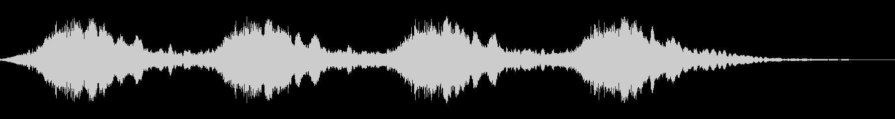 警報音(電子音)の未再生の波形