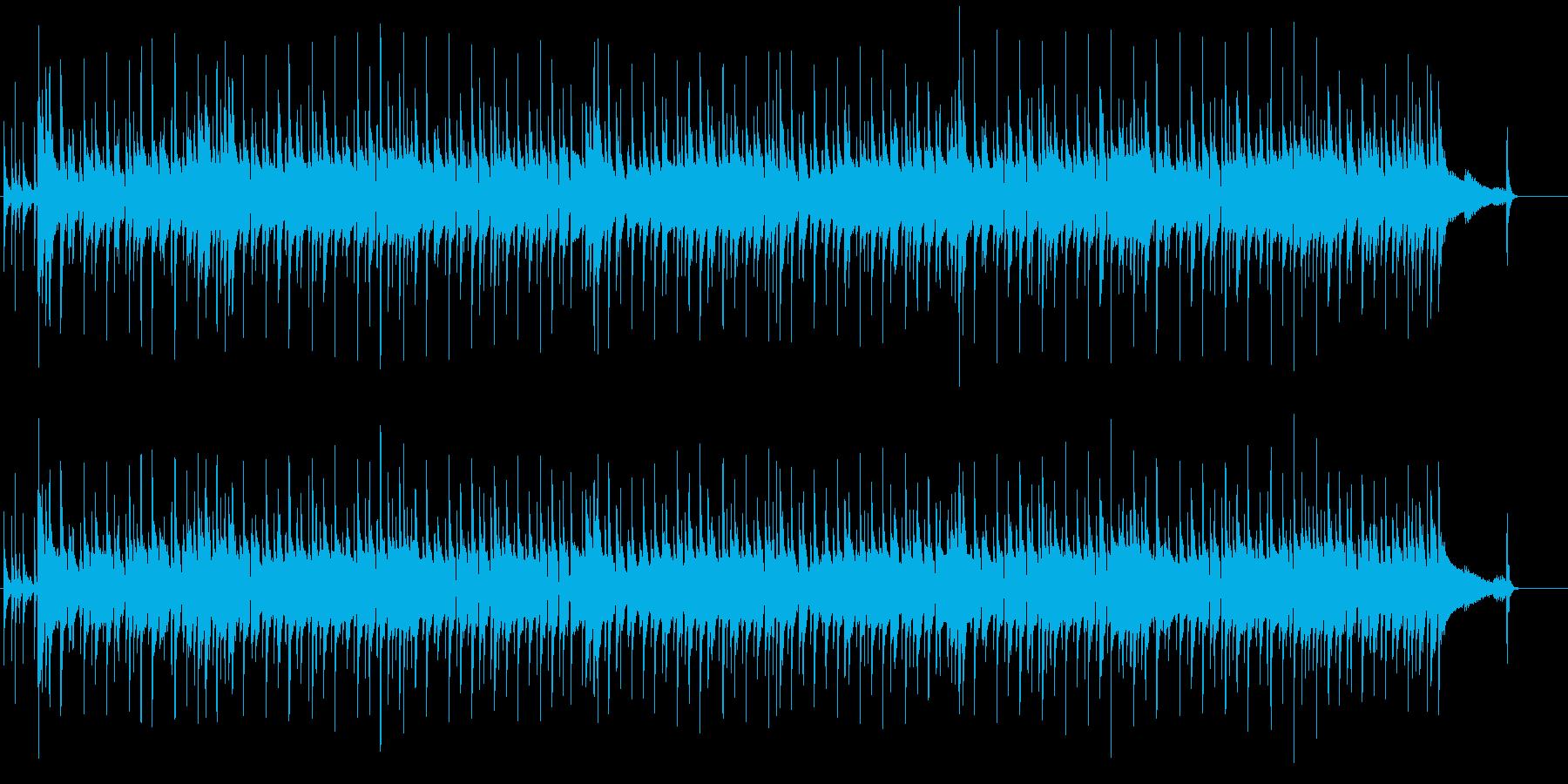 オルガンとバンドのセッションの再生済みの波形