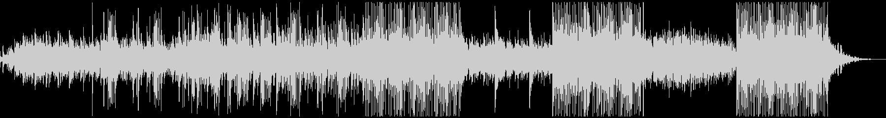 ボイスパーカッションとベルの幻想的な曲の未再生の波形