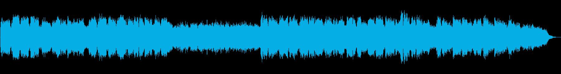 暖かく切ない笛のヒーリングミュージックの再生済みの波形