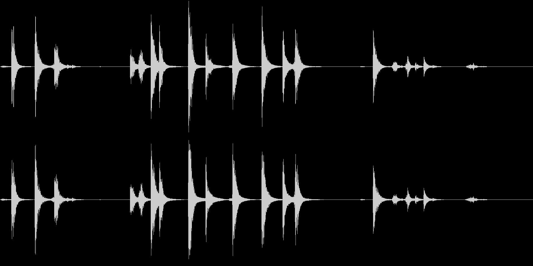 【生録音】手錠の音 2 鎖が揺れるの未再生の波形