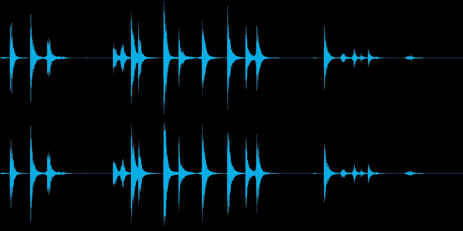 【生録音】手錠の音 2 鎖が揺れるの再生済みの波形