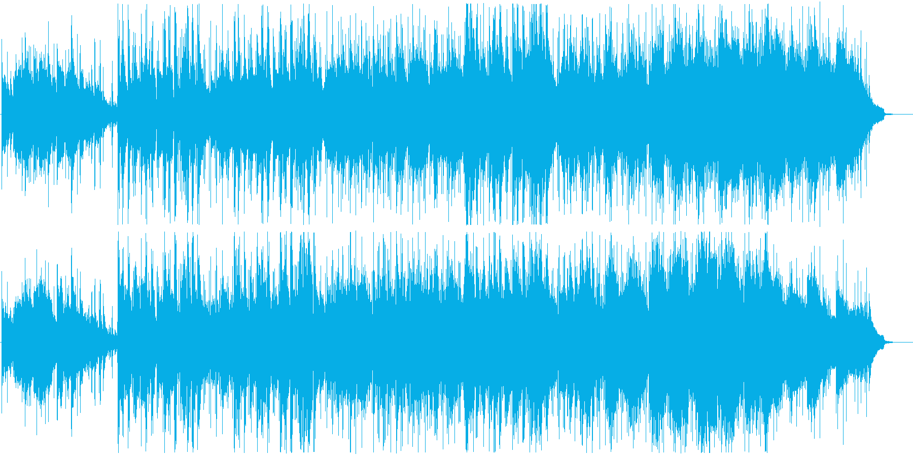 ピアノが感情的なメロディーを奏でる曲の再生済みの波形