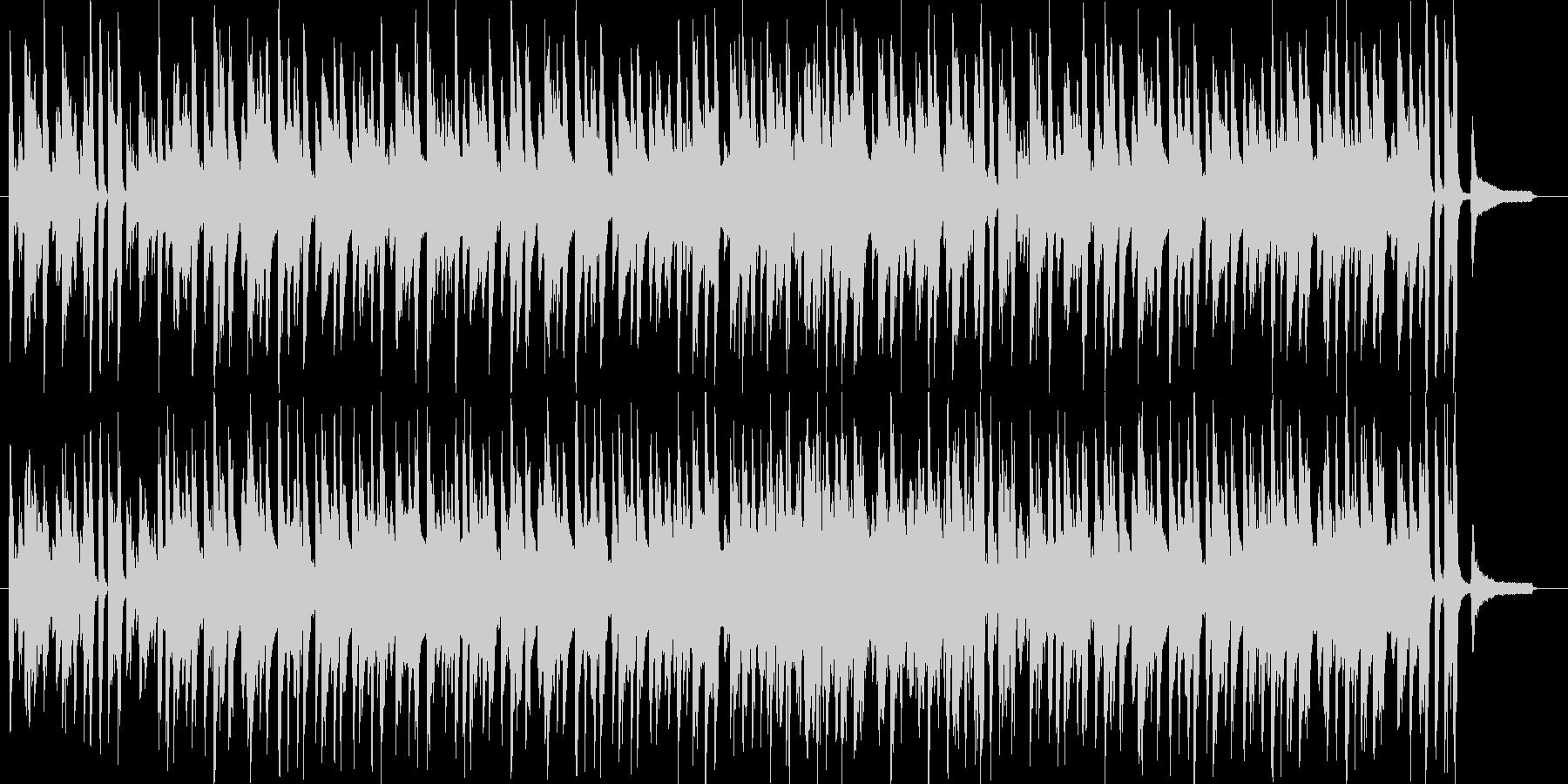 ピアノで可愛く跳ねるスウィングジャズの未再生の波形