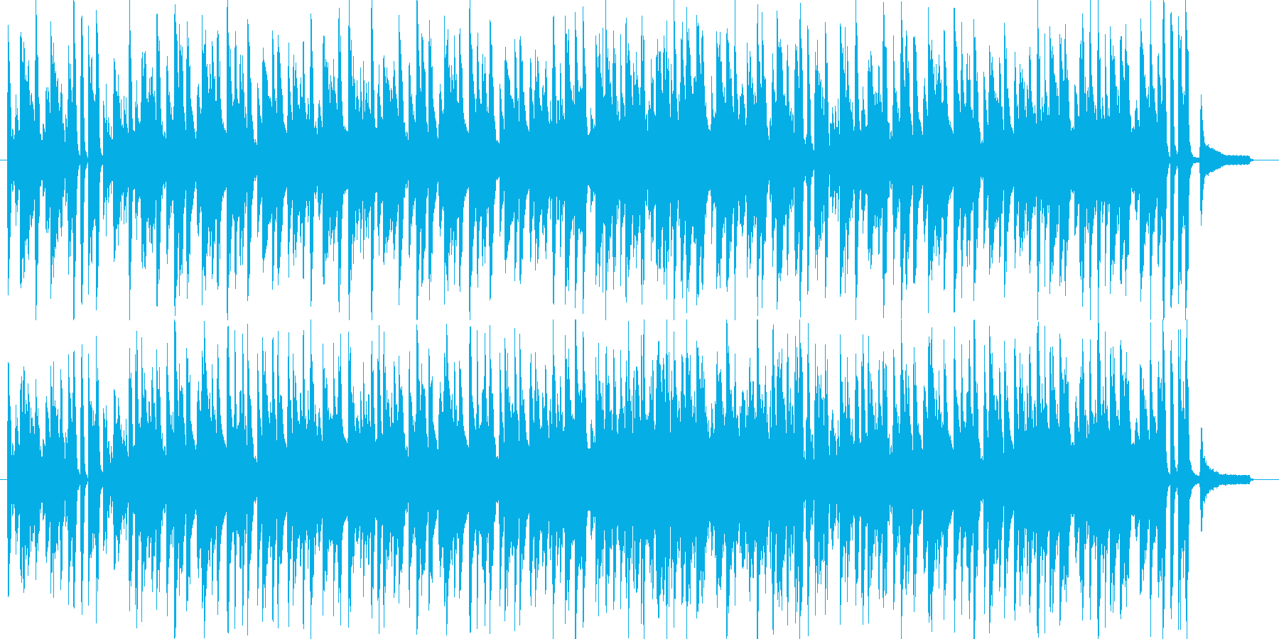 ピアノで可愛く跳ねるスウィングジャズの再生済みの波形