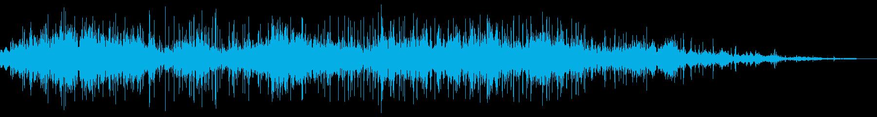 スライディング(砂利の上)の再生済みの波形