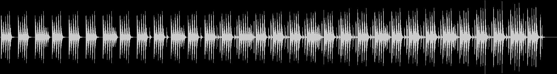同じフレーズが続く木琴のかわいらしい曲の未再生の波形