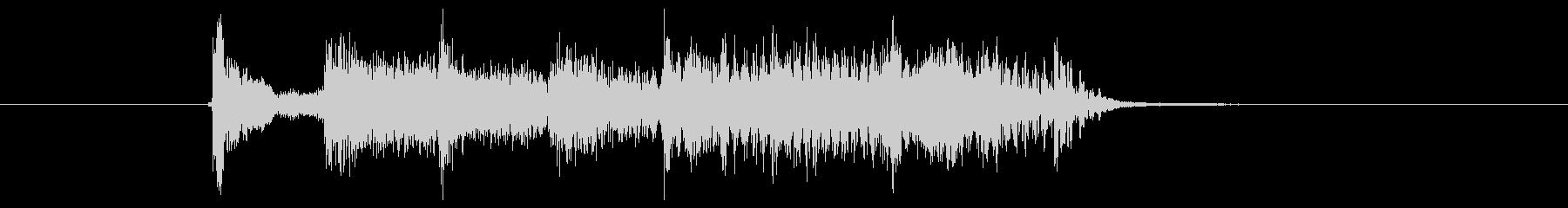 ノリノリで楽しいイメージの効果音の未再生の波形