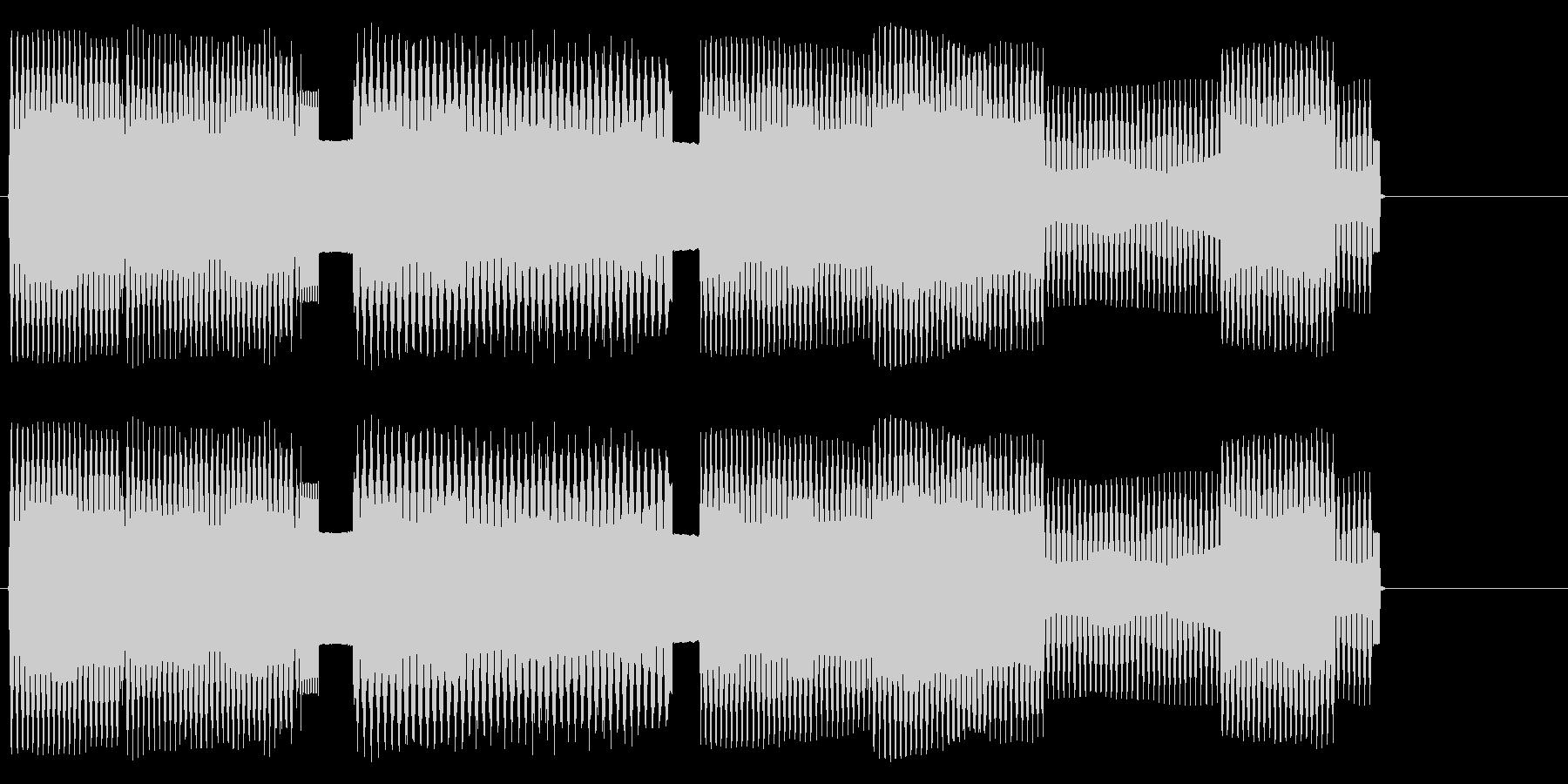 軽快なリズムのチップチューンサウンドロゴの未再生の波形