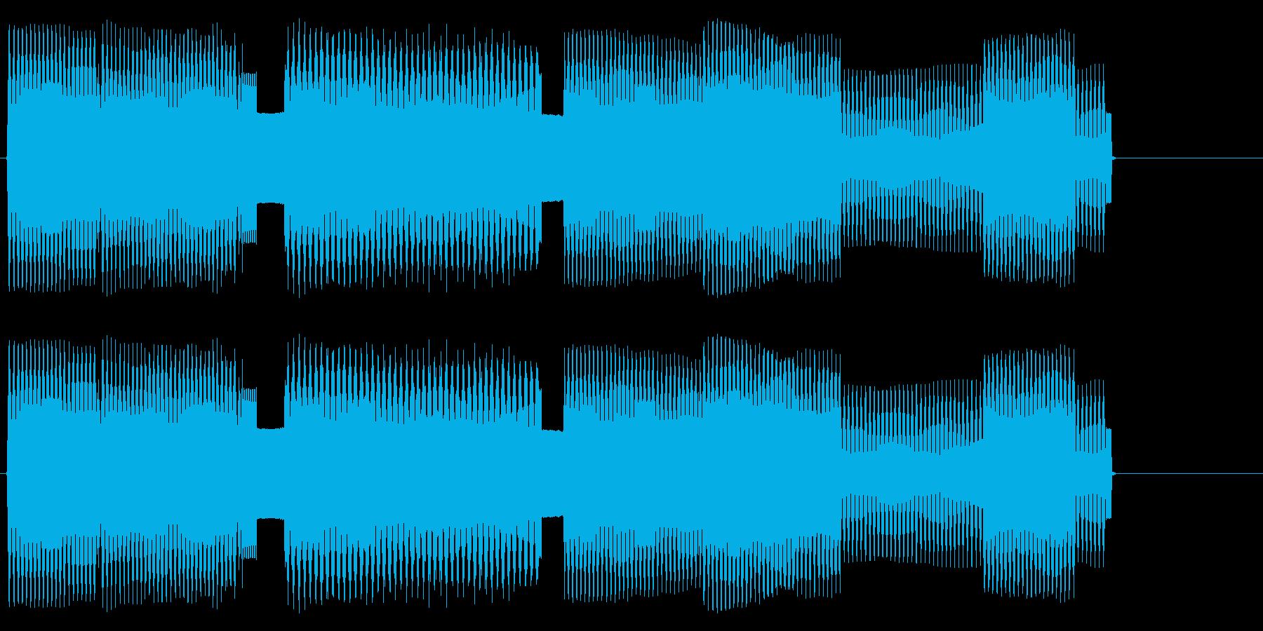 軽快なリズムのチップチューンサウンドロゴの再生済みの波形