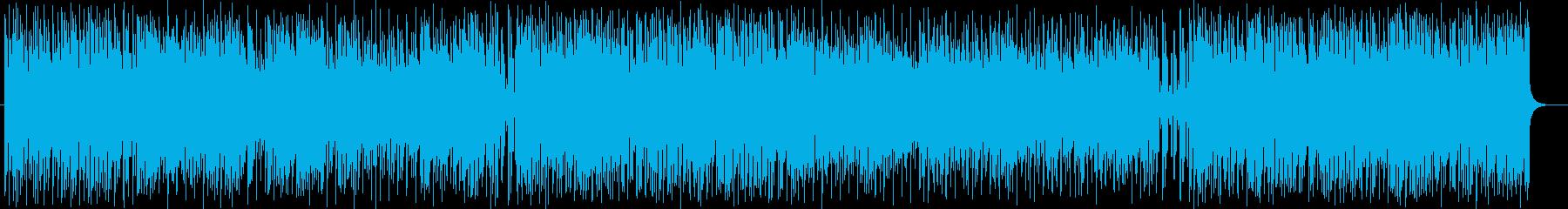 軽快でキュートなポップスの再生済みの波形