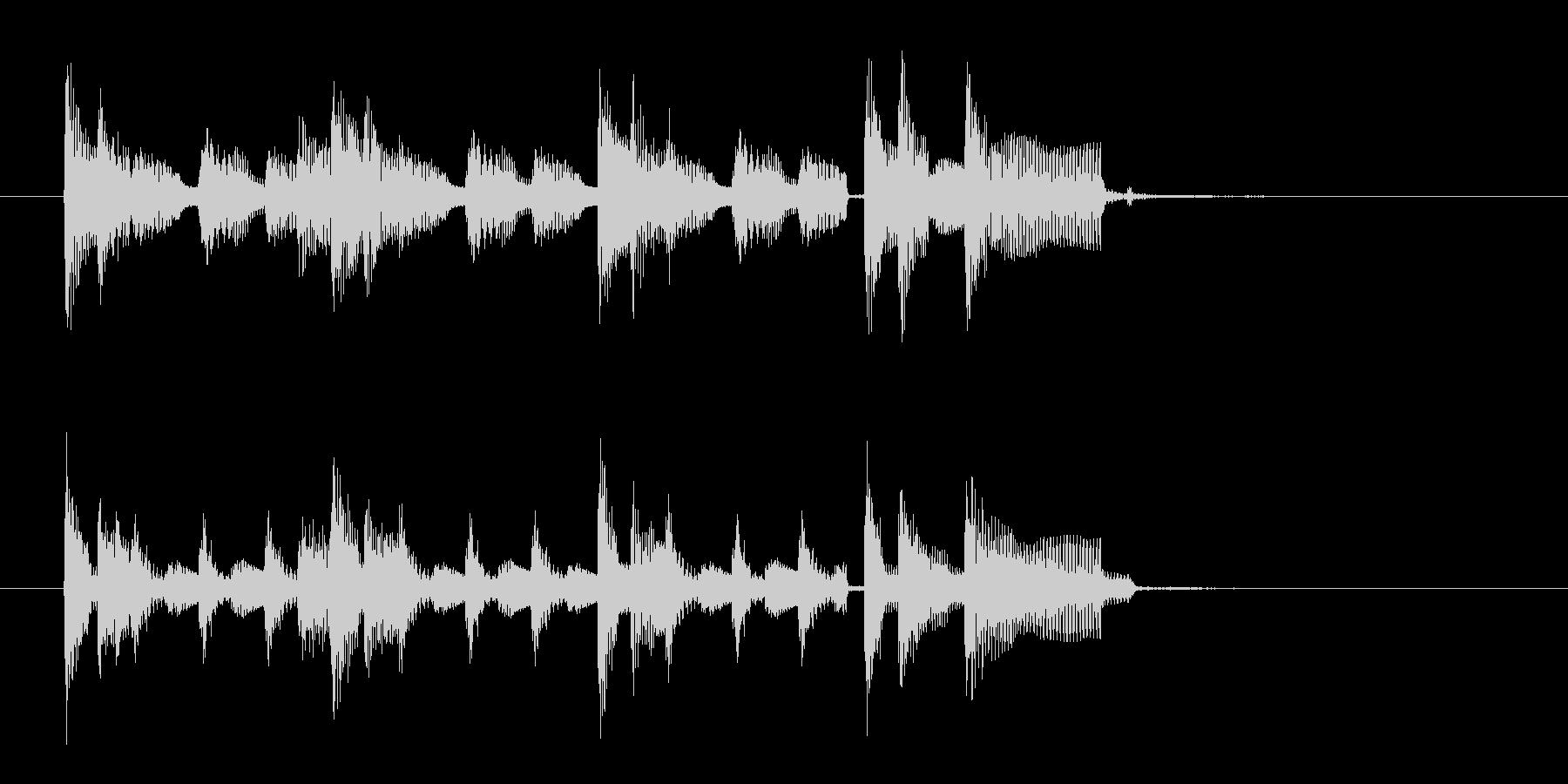 アコギ主体の10秒ブルースジングルの未再生の波形