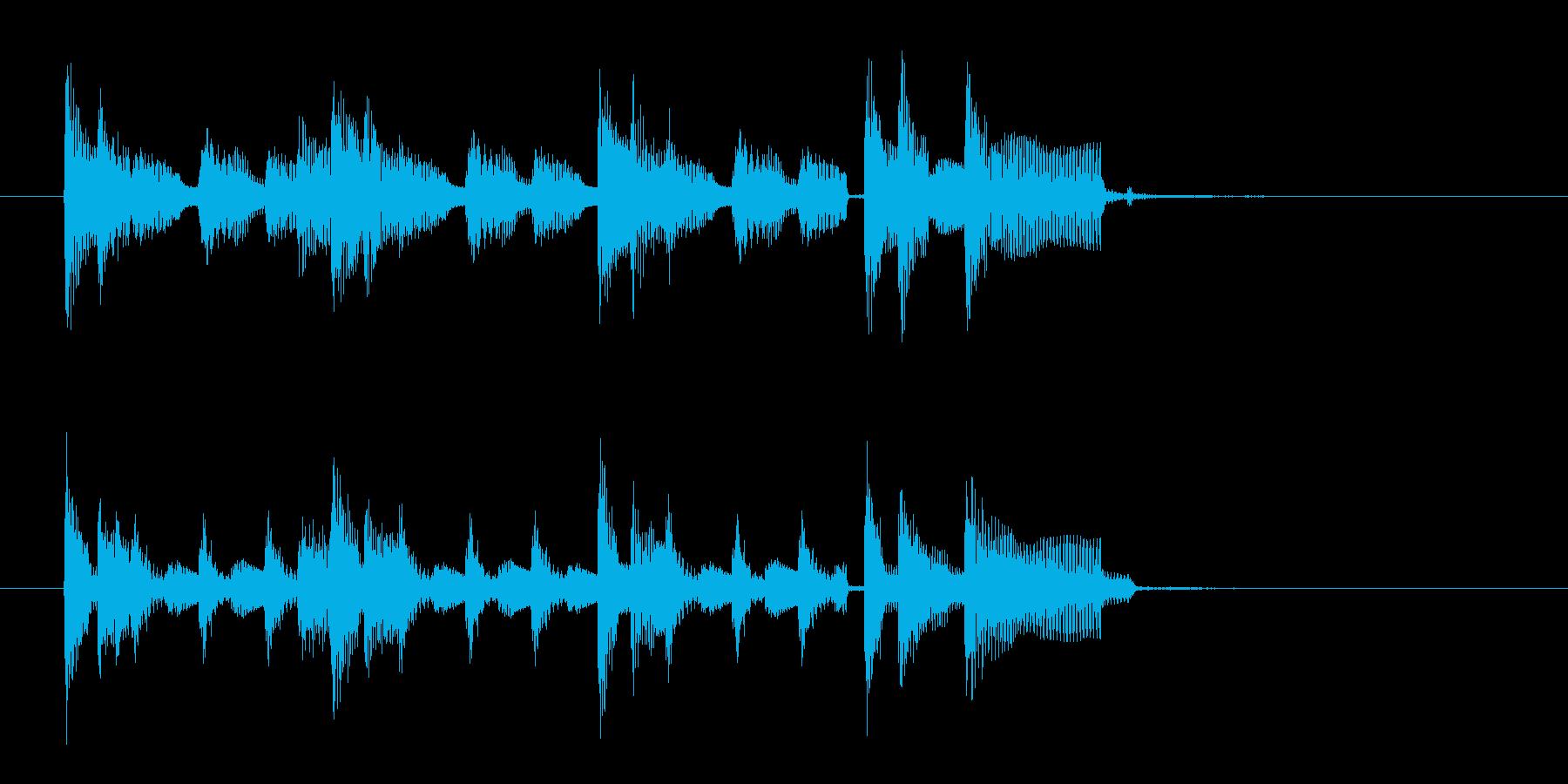 アコギ主体の10秒ブルースジングルの再生済みの波形