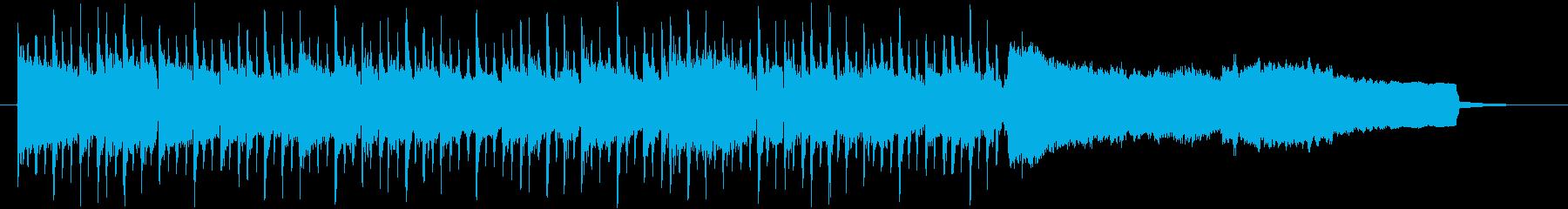 機械的ドラムとベルの音で眠くなる曲の再生済みの波形