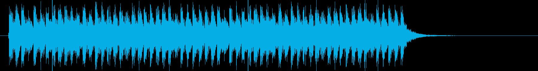 爽快感のある明るい音楽の再生済みの波形