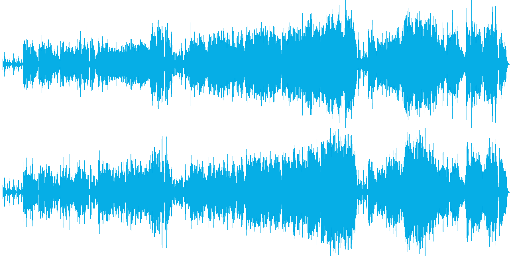 遥か昔から受け継がれている景色に似合う曲の再生済みの波形