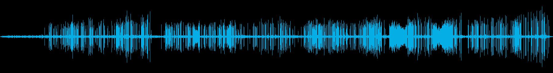 テスラコイル1;さまざまな程度の静...の再生済みの波形