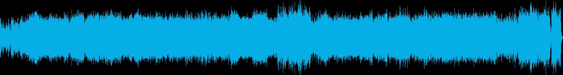 ゴシックなキャラクターのテーマのBGMの再生済みの波形