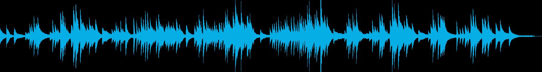 クラシックピアノ トロイメライシューマンの再生済みの波形
