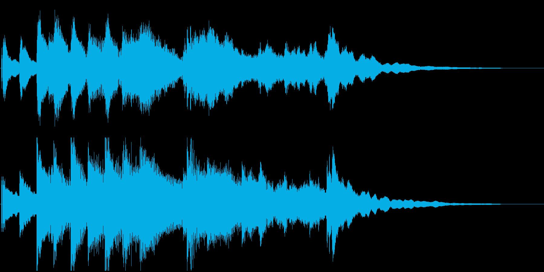 ピアノのゆったりしたジングル。の再生済みの波形