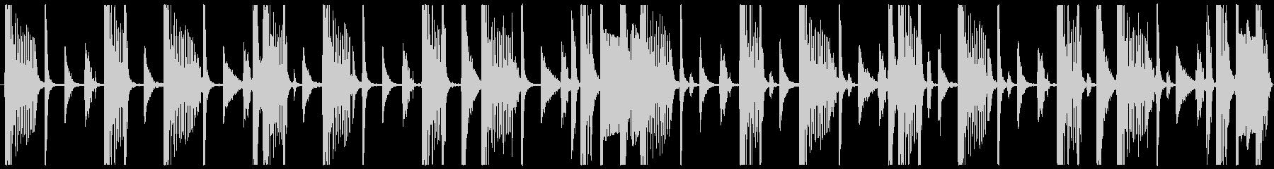 8小節 beat BPM90の未再生の波形