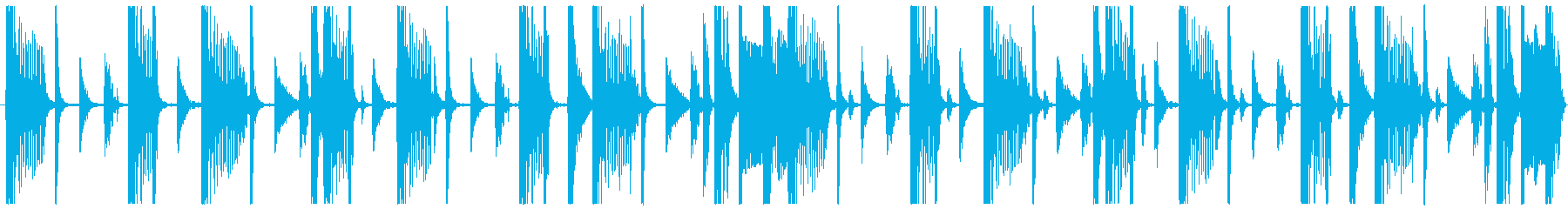 8小節 beat BPM90の再生済みの波形