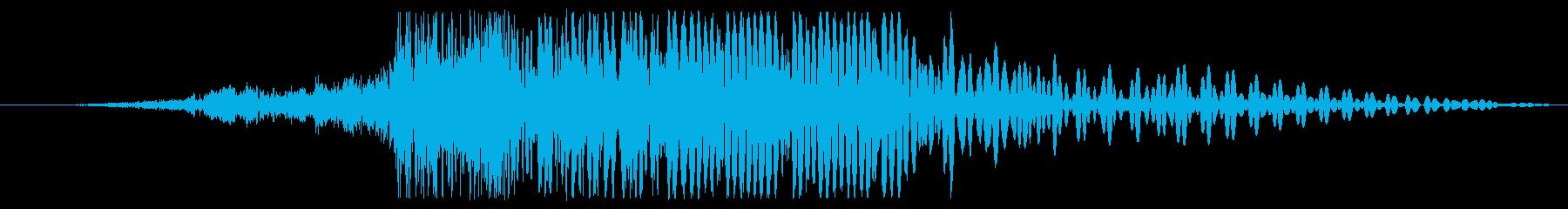 着信シンセの爆発的な影響を処理するの再生済みの波形