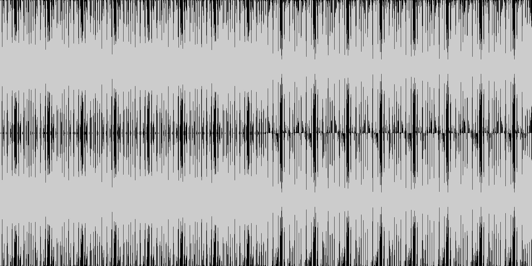 【アップテンポなノリノリファンク】の未再生の波形