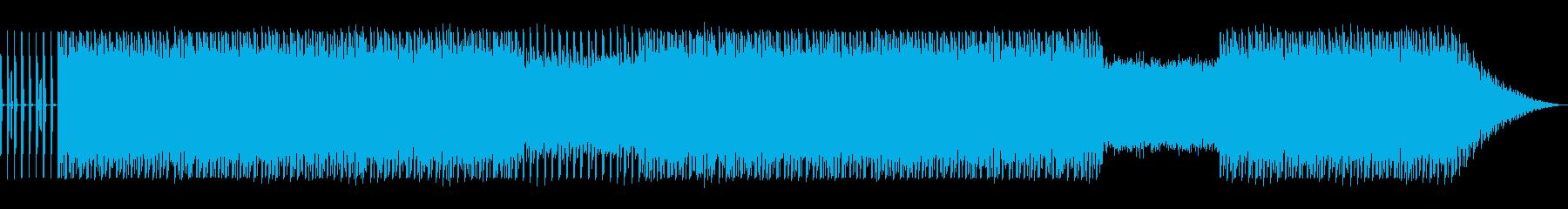 落ち着いた雰囲気のエレクトロニカの再生済みの波形