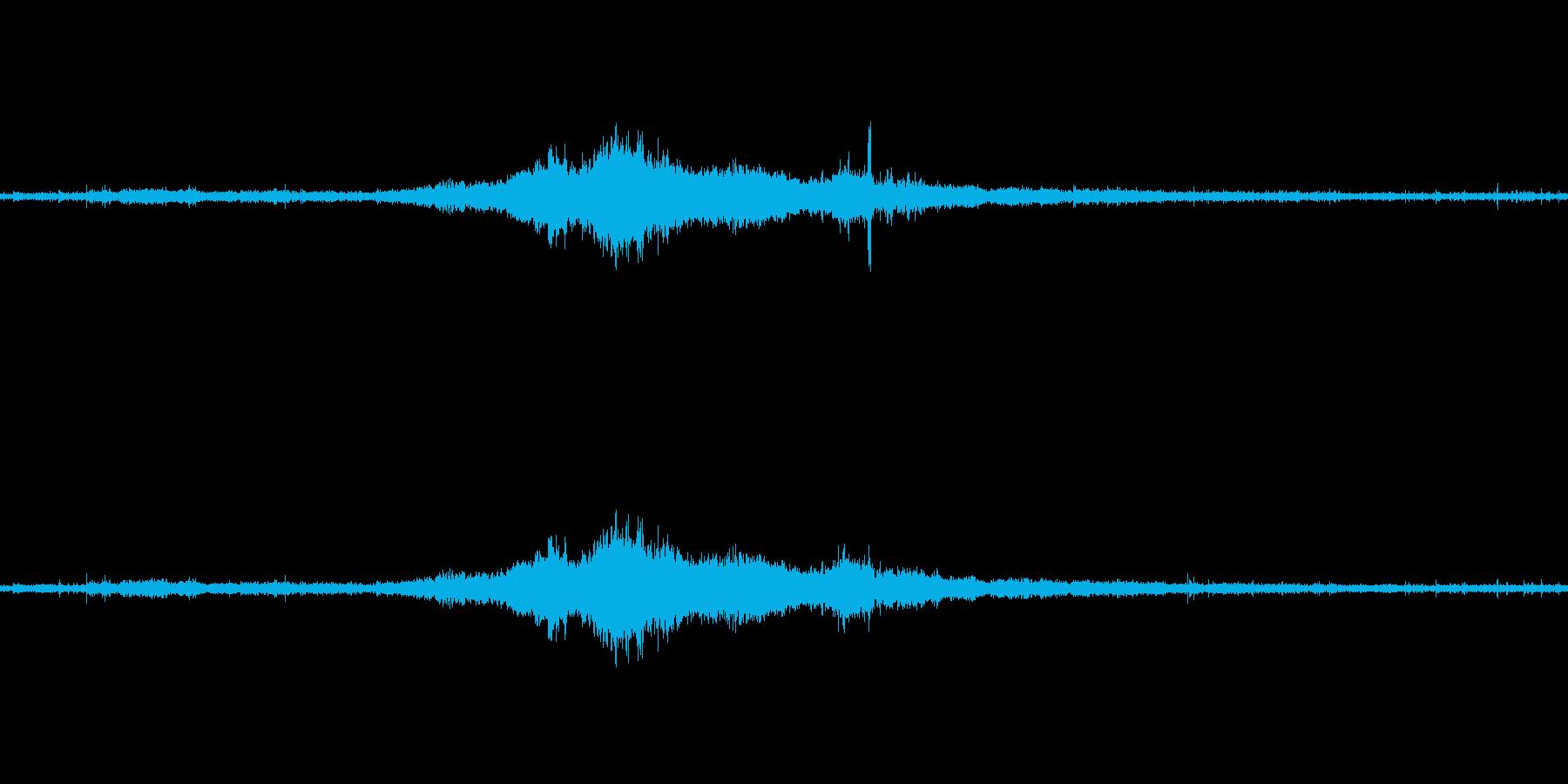 ぱらぱら・ケロケロ・ぶおーんの再生済みの波形